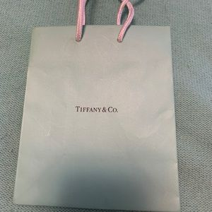 Tiffany & Co mini gift bag new textured Lt blue